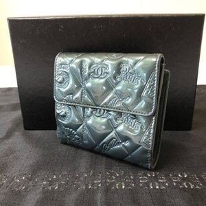 Chanel Quilted Patent No. 5 Compact Square Wallet